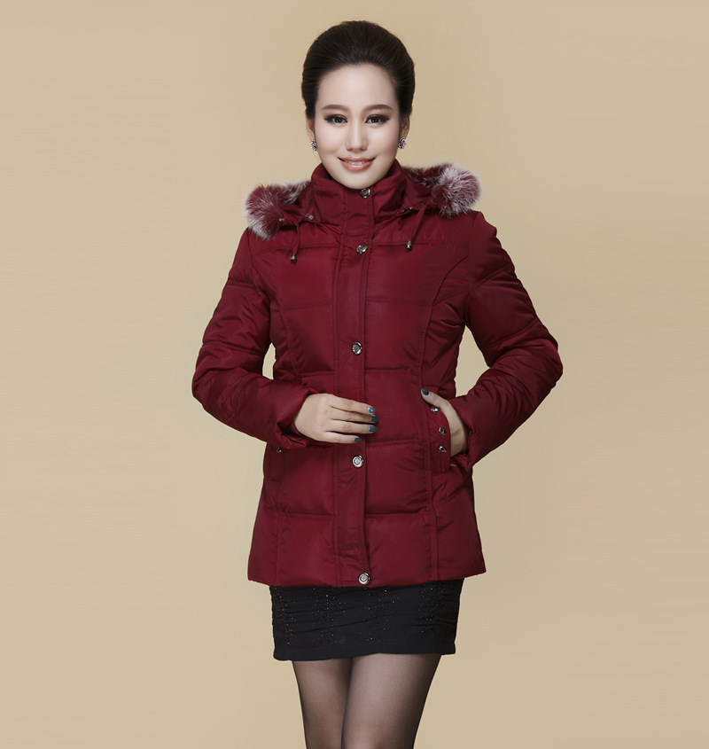 2017 new faux fur collar women winter down coat hooded thick warm...