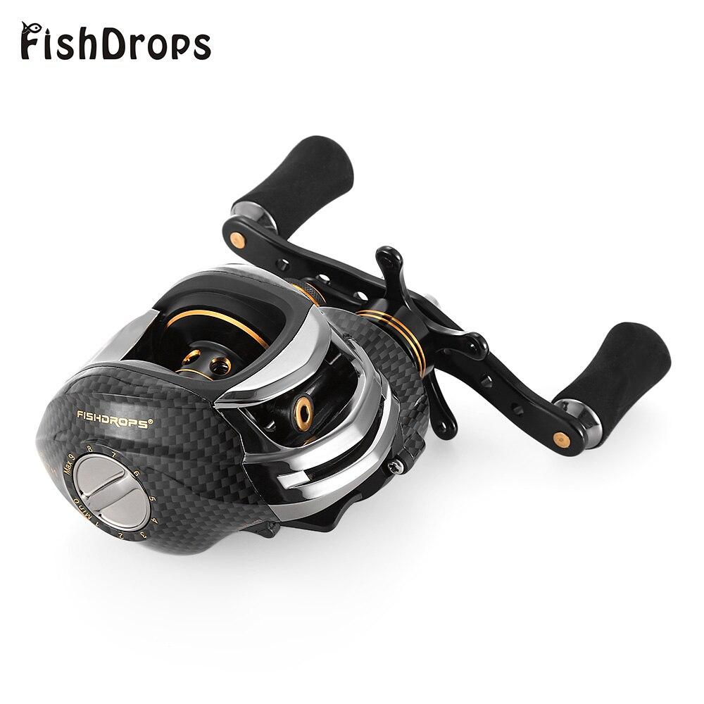 Fishdrops 17 + 1 Рыбалка Катушка 7.0: 1 Наживка литья катушки/влево правая рука мулине литья один способ сцепления Baitcasting катушка carretilha ...
