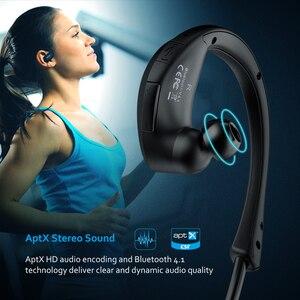Image 2 - Mpow ברדלס MBH6 Bluetooth אוזניות אלחוטי אוזניות עם מיקרופון IPX5 עמיד למים AptX ספורט אוזניות עבור iPhone אנדרואיד טלפון