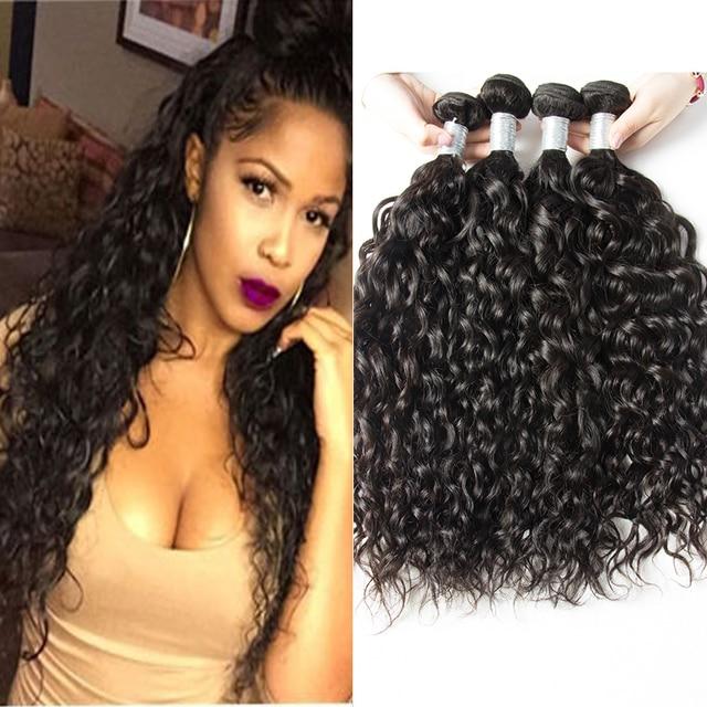4 Bundles Brazilian Water Wave Virgin Hair Wet And Wavy