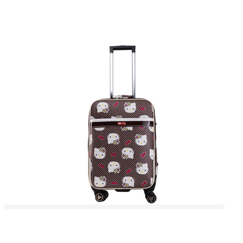 NEW 24 inch Hello kitty Spinner travel Luggage suitcase sets kids student women trolleys rolling luggage EMS/DHL free shipping