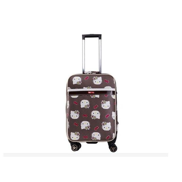 d24633e37 Nuevo 24 pulgadas Hello kitty Spinner Luggage viaje maleta establece  estudiante kids mujeres carritos de equipaje