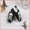 SDMOCCS Brand Baby boy Skull beige black leather shoes infant cool cartoon soft sole shoes todder first walker shoes
