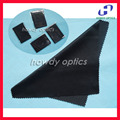 Black microfiber cleaning cloth,20x20cm,separate package,eyewear cleaning cloth,lens cloth