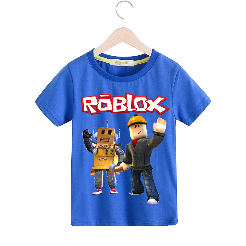 Children Roblox Game T-shirt Clothing For Boy Summer Short Sleeve Tee Tops Costume Girls Tshirt Kids White Casual T Shirt TX096Children Roblox Game T-shirt Clothing For Boy Summer Short Sleeve Tee Tops Costume Girls Tshirt Kids White Casual T Shirt TX096
