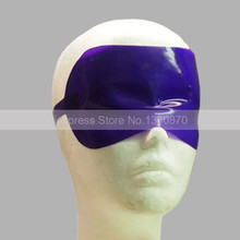 Dark Blue Sexy Latex Rubber Blindfold Unisex Latex Mask Eyes Cover for Adult S-LM199
