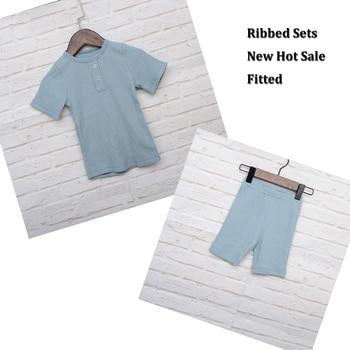 1c4bc2c5c HITOMAGIC 2019 nueva moda niños conjuntos para niños bebé niña ropa de  niños Camiseta de manga corta equipada suave Venta caliente de verano tela