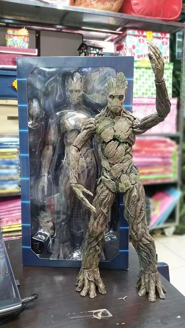 Chaude Jouets Version Marvel Gardiens de La Galaxie Groot Arbre Homme Avengers 40 cm Grande Taille BJD Action Figure Jouets