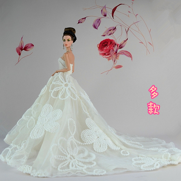 Hot Sale For Barbie Clothes PWedding Dress Princess Gown Dress -in ...