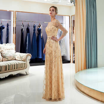 2019 Half Sleeve Evening Dresses for Women Luxury Heavy Beaded Long Formal Evening Party Dresses With Stones