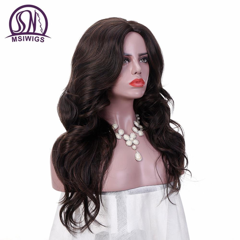 MSIWIGS 24 ίντσες μακρυές κυματιστές - Συνθετικά μαλλιά - Φωτογραφία 3