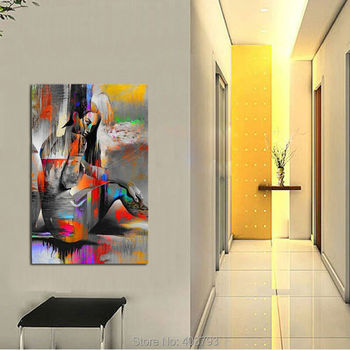 2016 NEW-Hand-painted Abstract Art Canvas Oil Painting Nude Naked Girl Figure Painting For Living Room