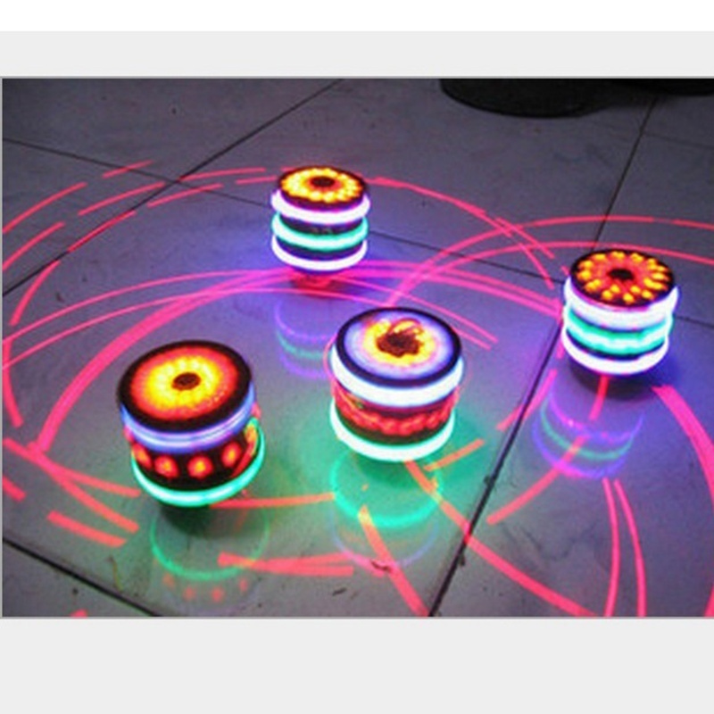 Gyro Colorful Flash Light emitting Red Laser Line Gyro Magic Music Gyroscope Gifts For Boys Children