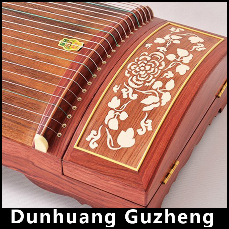 Chinese Rosewood Guzheng Dunhuang Professional Wood Musical Instruments 21 strings Zheng Zither cither, sackbut, zithern China dunhuang in focus