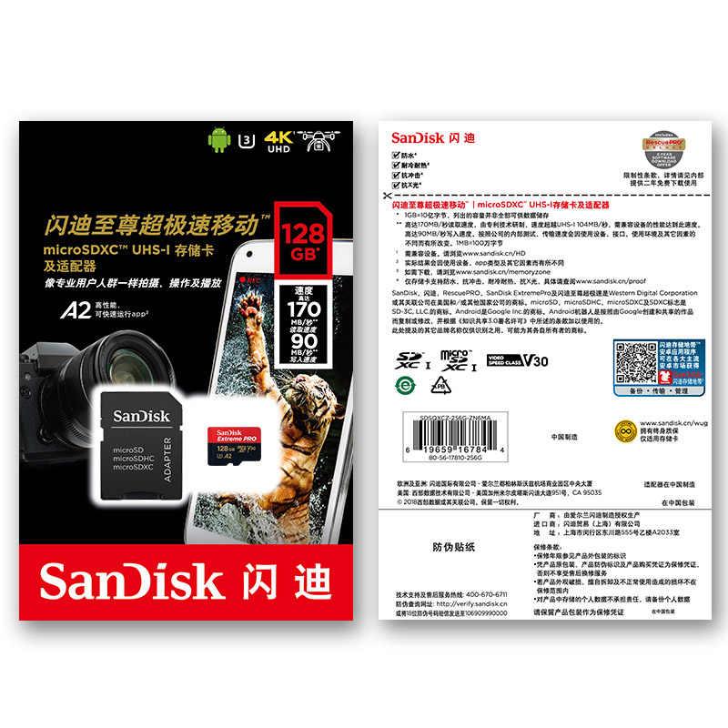 SanDisk Extreme Pro/Ultra Micro SD 128 GB 64 GB 256GB 400 GB tarjeta de memoria 32, 64, 128 gb flash SD tarjeta SD/TF MicroSD U1/U3 4 K Clase 10