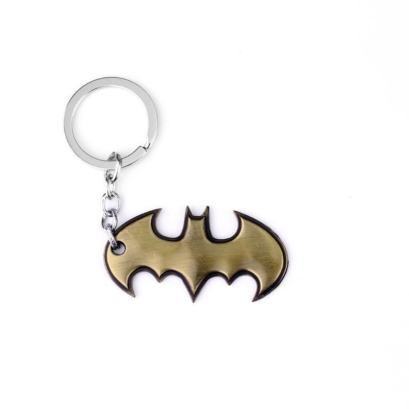 Batman Keychains The Avengers Marvel Comics Batman Bruce Wayne Superhero Joker Metal Model Key Chain Ring Keyring
