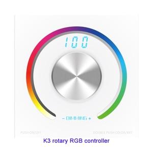 Image 3 - Новый CV RGB поворотный контроллер RGB панель контроллер RF настенное крепление беспроводной пульт дистанционного управления DC 12V 24V для 5050 3528 RGB светодиодная лента