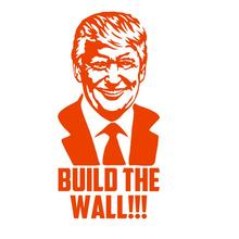 DONALD TRUMP BUILD THE WALL Vinyl Decal Sticker Car Bumper Wall President Campaign Decar Make America Great Again DT-4