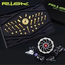 RISK Bicycle Titanmium Alloy Screws Bolts Sets 36Pcs For MTB Road Bike SL Series TC4 Level Mountain Screw