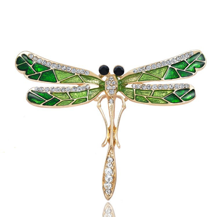 Retro Insect Dragonfly Vlinder Broach Bee Broche Dames Kristal Dier - Mode-sieraden - Foto 5