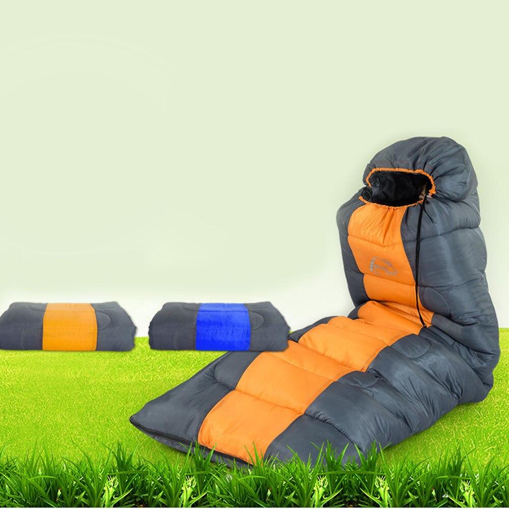 Ветряная экскурсия на открытом воздухе кемпинг термо спальный мешок зимний конверт с капюшоном сна сумки путешествия толстый спальный меш