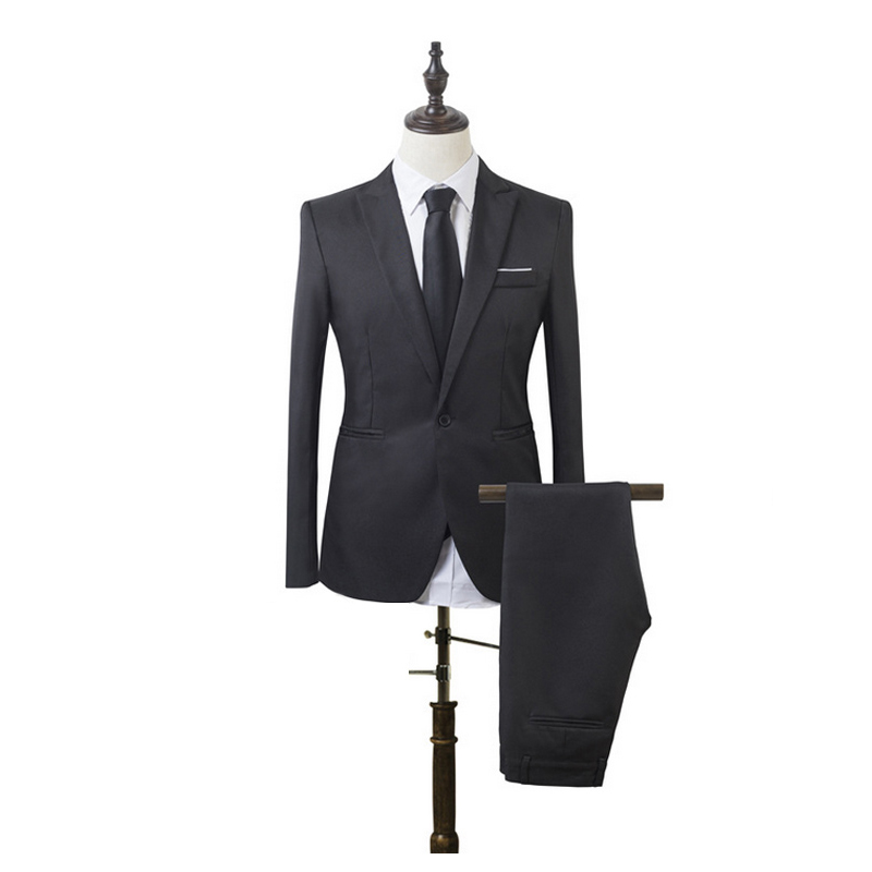 Men Suit Blazers Slim-Fit Business-After Male Luxury Opening Cotton For Costume Retort-Collar