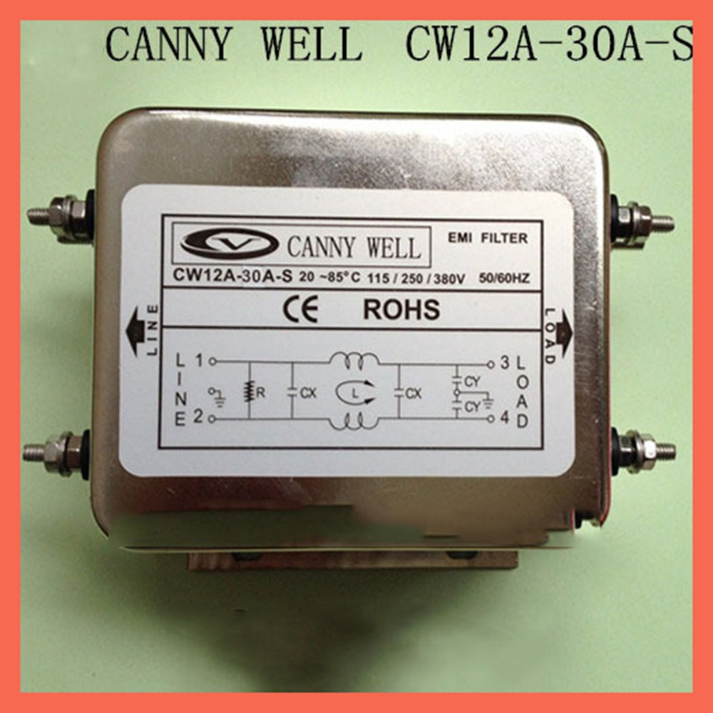 Электрооборудование принадлежности адаптеры питания 30A110 380V CW12A 30A S фильтр питания устройство очистки EMI фильтр компоненты