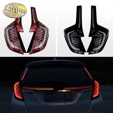 LED Tail Light For Honda Fit Jazz 2014~2018 Tailight  turn signal  + Brake Light + Fog Lamp + Reversing light цена