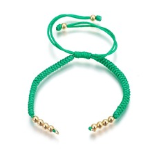 PandaHall Nylon Cord Braided Bead Bracelets Bangle DIY Craft