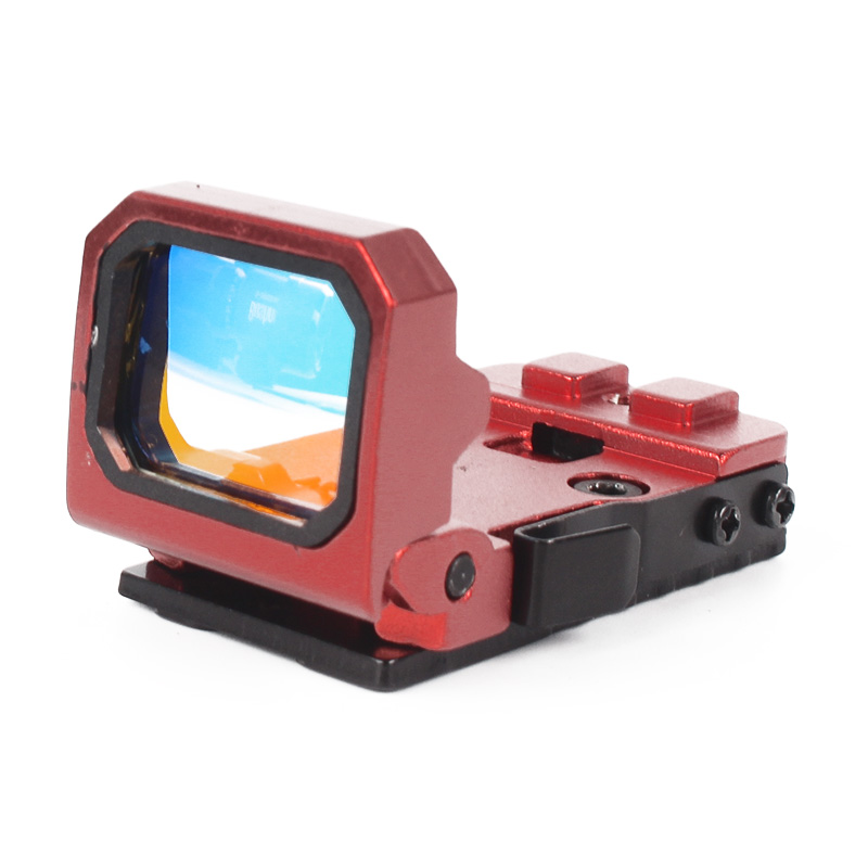 Robin Hunting Tactical Red Dot Sight Collimator Glock Rifle Reflex Sight Scope Mini Foldable Red Dot For Outdoor Hunting