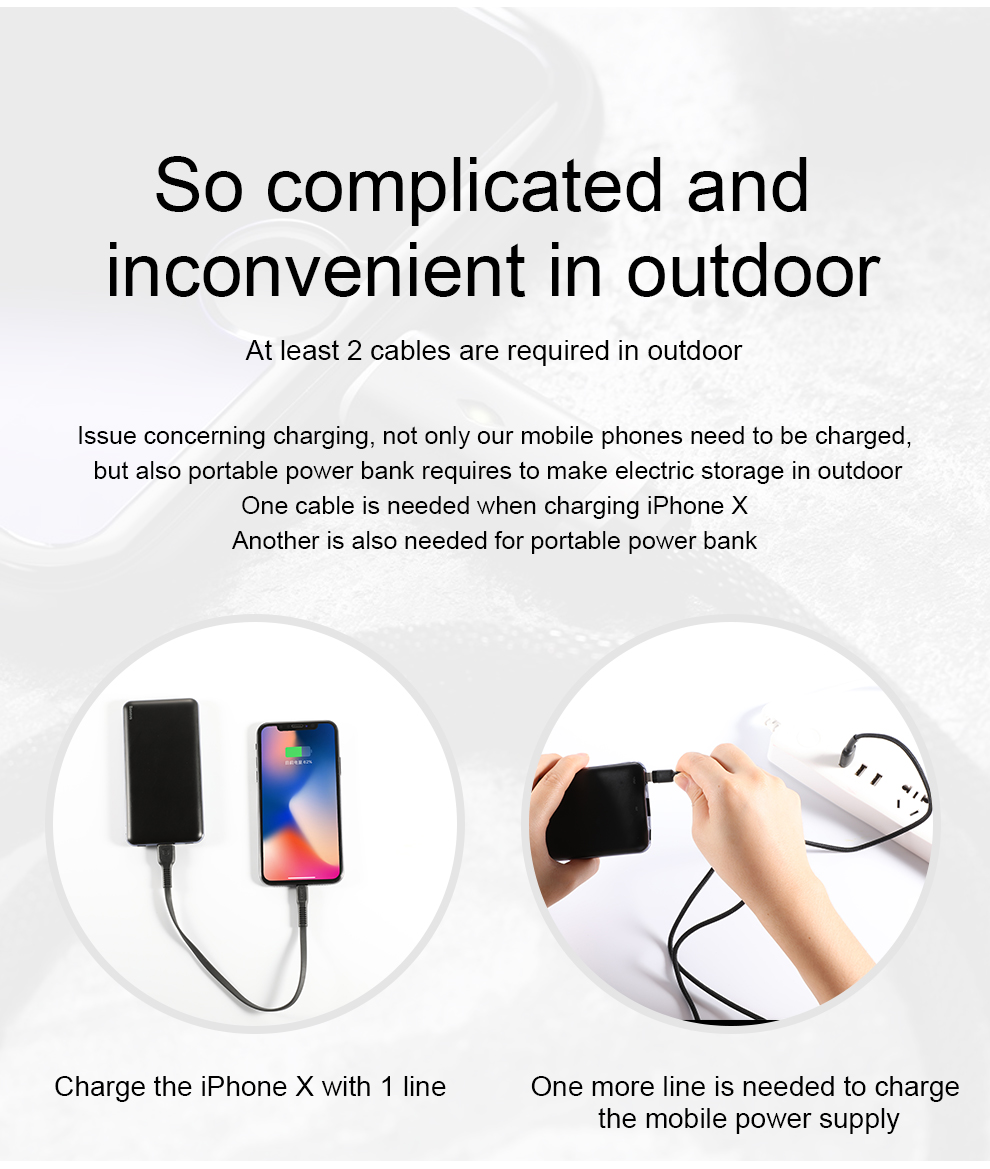 Baseus USB PD Fast Charging Power Bank For iPhone Xs Xs Max XR 18 X 8 8 Plus Powerbank 3A Quick Charge USB Type C Power Bank 8