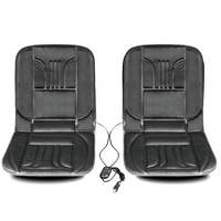 2pcs Car Seat Cushion Covers Winter Heated Car Seats DC 12V Seat Heating Fur Cloaks Heater