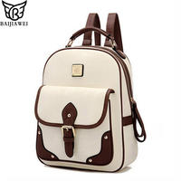 2015 Fashion PU Leather Women Backpack Casual School Bags For Teenagers Girls Travelling Back Packs High
