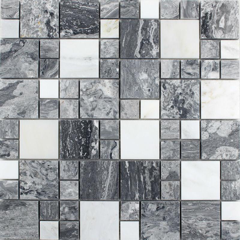 Natural Marbletiles Sheet Diamond Stone Mosaic Tile Art Wall