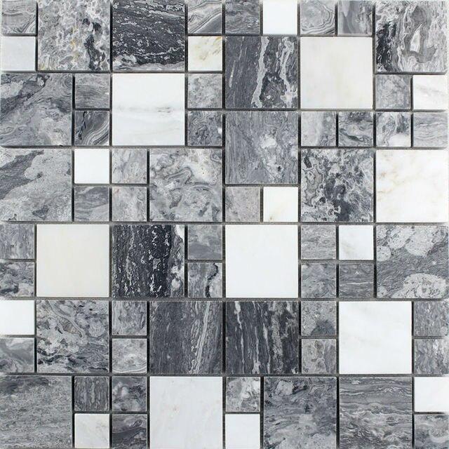 Natural Marbletiles Sheet Diamond Stone Mosaic Tile Art Wall Stickers Kitchen Backsplash Design Bathroom Shower Floor Tiles