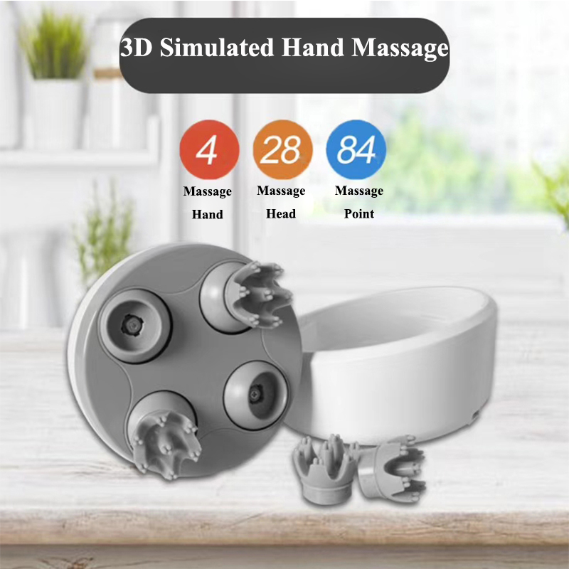 2019 New Upgrade Electric Head Massager Wireless Scalp Massage Prevent Hair Loss Body Deep Tissue Kneading Vibrating Health Care in Massage Relaxation from Beauty Health