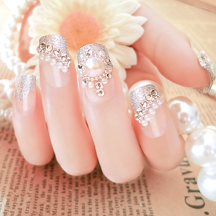 Superior Quality Finished Nail 24 Pieces of Fake Pearl Nail Nails ...