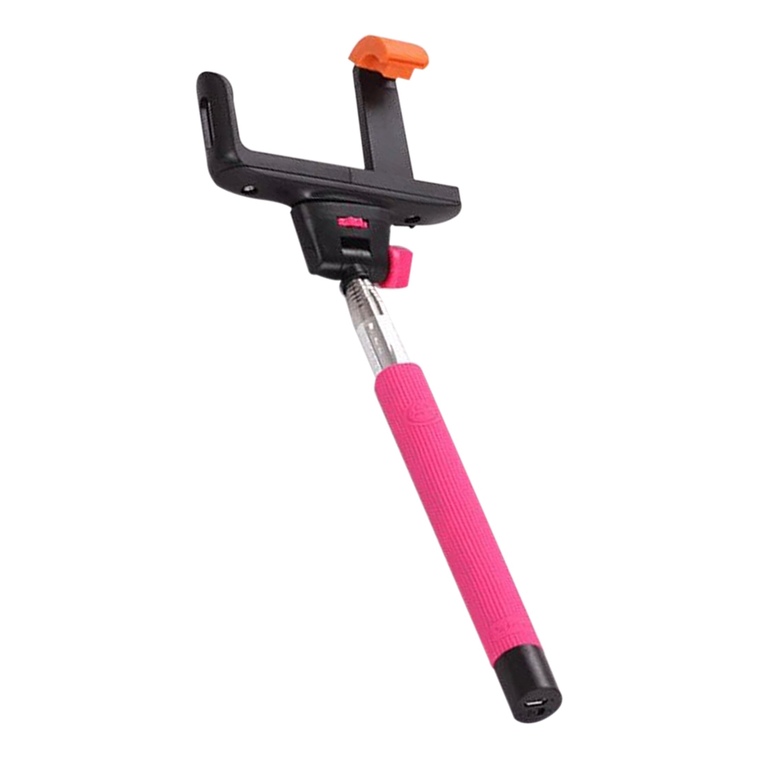 Extendable Handheld Wireless Bluetooth Selfie Stick For Android Phone rose red