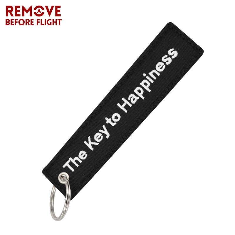 Ключ к счастье брелок OEM Bijoux черная вышивка брелок бирка для ключа, держатель Bijoux для Мотоциклы Машины брелок для ключей, Подарочный Новый