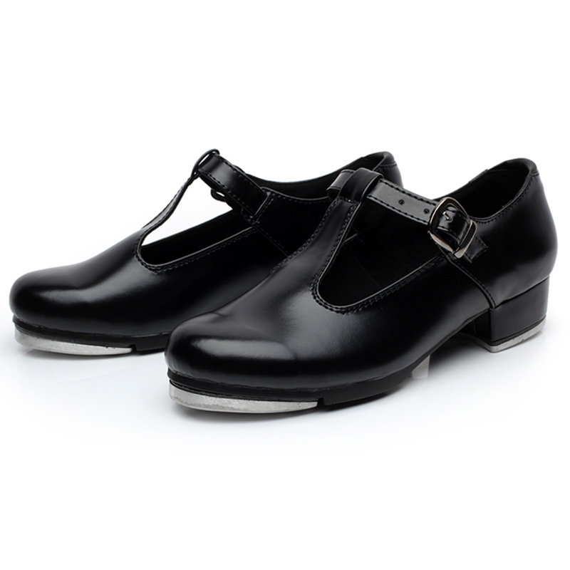 Women's Tap Dance Shoes PU Low Heel Ballet Dancing Shoes ...
