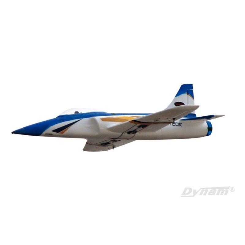 Oyuncaklar ve Hobi Ürünleri'ten RC Uçaklar'de Dİnamİk 1100MM Meteor 70mm EDF RC PNP/ARF Uçak W/Motor ESC Servo W/O pil TH03712'da  Grup 1