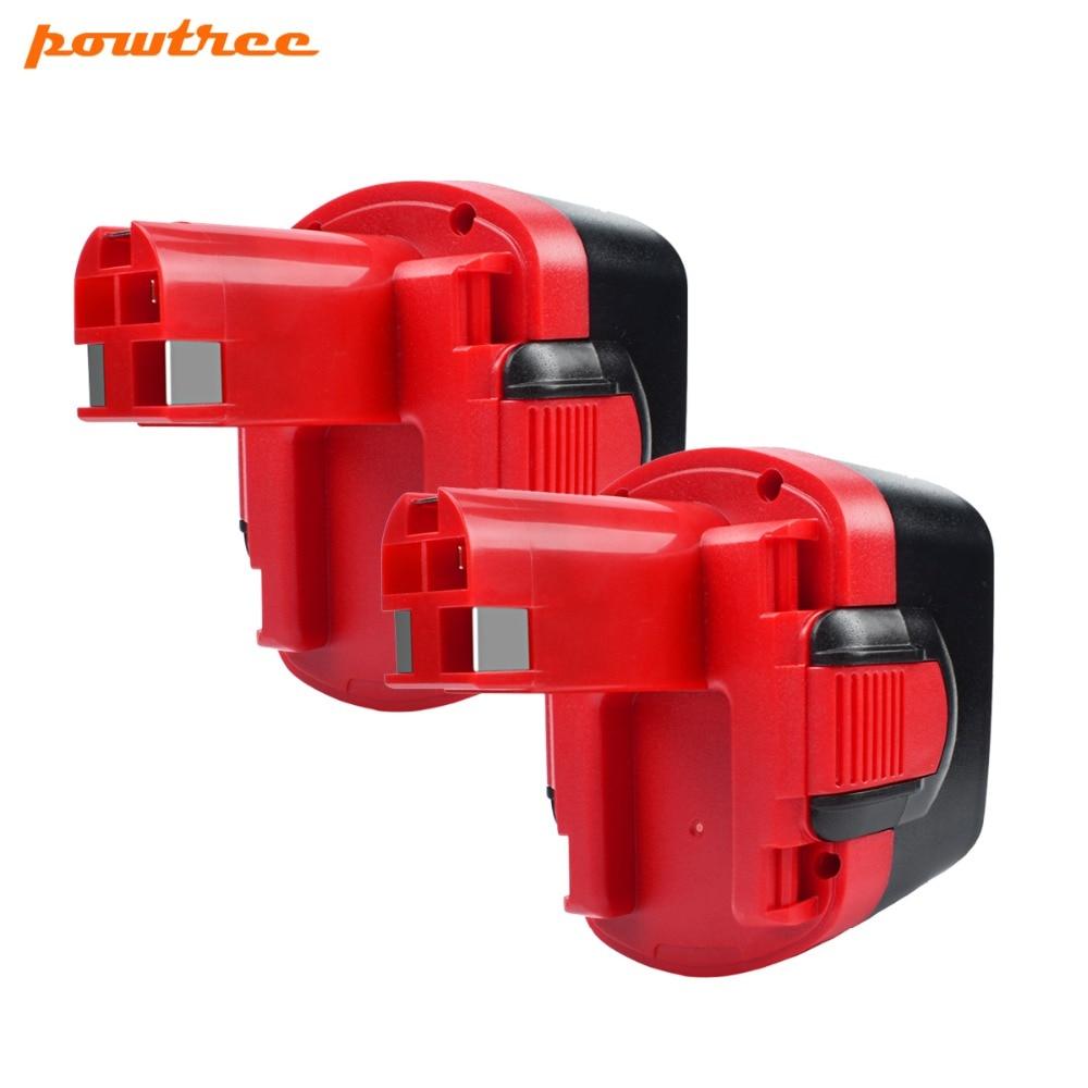 2 PAQUETS 3500 mAh 12 V Ni-MH BAT043 Batterie Rechargeable: BOSCH GSR 12 VE-2, GSB 12 VE-2 PSB 12 VE-2, BAT043 BAT045 BTA120 L30