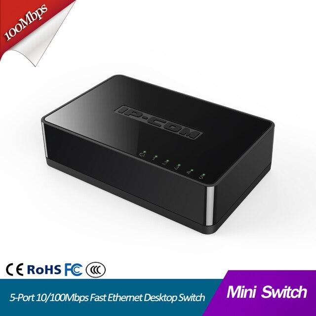 5 Port Mini 10/100Mbps Fast Ethernet Network Switch Hub LAN rj45 lan hub internet splitter Small and Smart Plug and Play