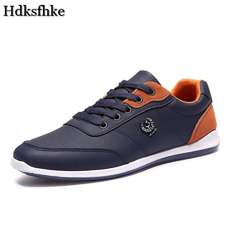 Novo 2016 Sapatas Dos Homens Moda Masculina Sapatos Casuais homens Ao Ar Livre sapatos de caminhada Preto Azul