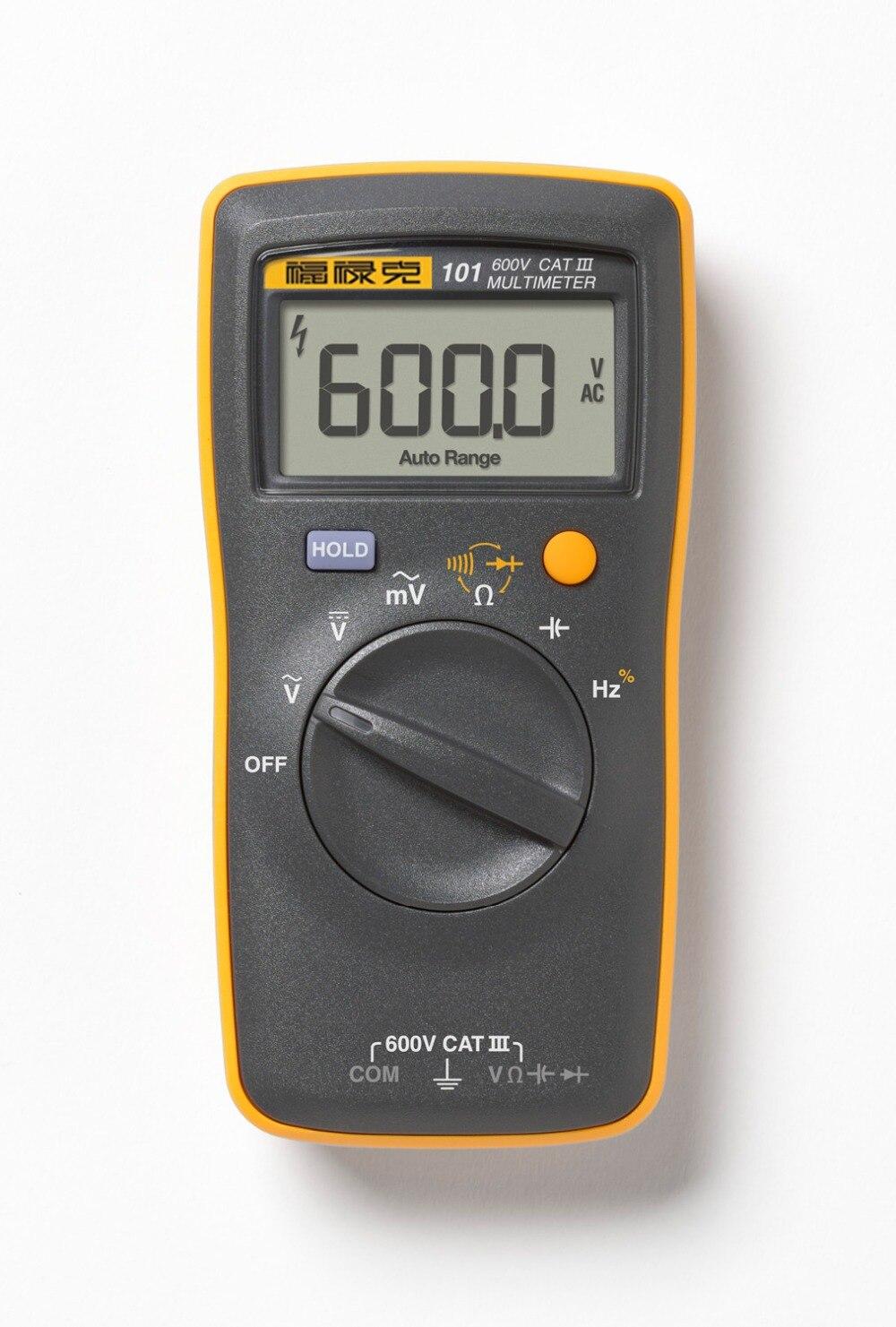 Fluke 101 Palm-sized Básica Bolso Mini auto range Multímetro Digital para AC/DC Tensão Resistência Capacitância
