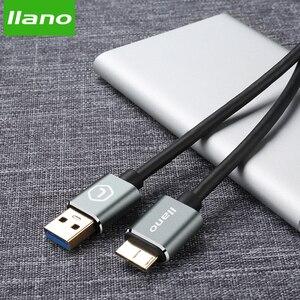Image 3 - Lano usb 3.0 tipo a micro b usb3.0 cabo de cabo de sincronização de dados para disco rígido externo hdd samsung s5 USB C cabo de disco rígido