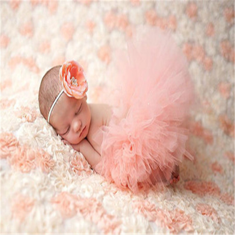 Newborn Photography Props Infant Costume Outfit Princess Baby Tutu Skirt Headband для фотосессии новорожденных Baby Fotografie