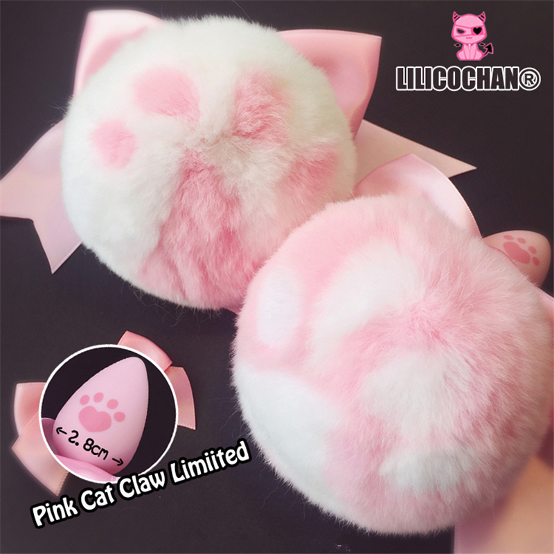 Lilicochan Real Rabbit Fur Tail Cat Claw Silicone Butt Anal Plug BDSM Sex Product Cut Erotic Lingerie For Women Adult Games
