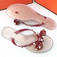 2019 new herringbone female slippers butterfly results frozen sandals pinch fashion rivets beach
