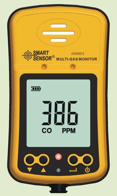 AS8903 يده Hydrothion H2S جهاز كشف غاز أكسيد الكربون أول أكسيد الكربون مراقب 2in1